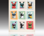 Nine Bandit Bunnies | Print available